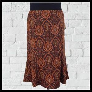 NWT Beautiful Flared Panel Skirt Fall Colors 12P